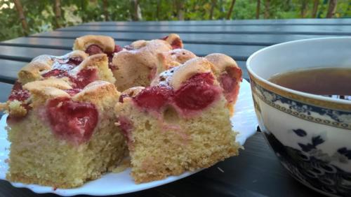 szybkie ciasto owocami